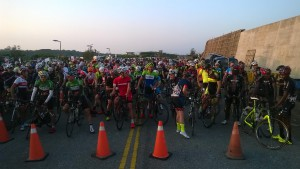 everyone lined up at the start